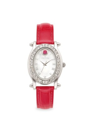 Croton July Birthstone Watch with Mother of Pearl Dial