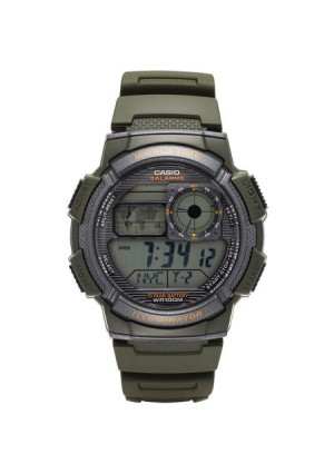 Casio Men's World Time Watch, Green, AE1000W-3AVCF
