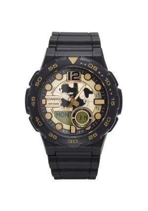 Casio Men's Ana-Digi Dive Style Watch, Black/Gold, AEQ100BW-9AVCF