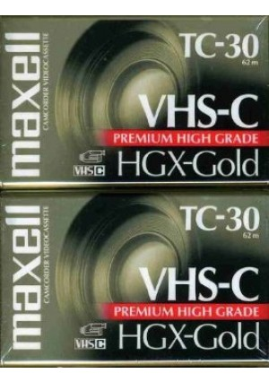 Maxell 203020 HGX-GOLD TC-30 Camcorder Video Cassette, 2 Pack (Discontinued by Manufacturer)