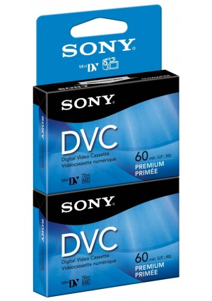 Sony DVM60PRR/2 60 min Premium DVC with Hangtab (2 Pack)
