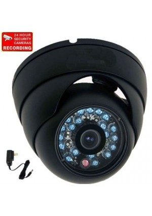 "VideoSecu 600TVL Outdoor IR Infrared Home Dome Security Camera Built-in 1/3""  Sony Color CCD Wide Angle High Resolution Day Night for CCTV DVR Survei"