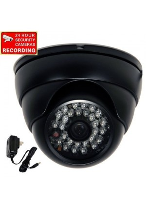 """VideoSecu Outdoor Security Camera Day Night Vision Built-in 1/3""""  Sony CCD CCTV 28 IR LEDs Wide Angle View Lens Weatherproof Vandal Proof (Power Supp"""