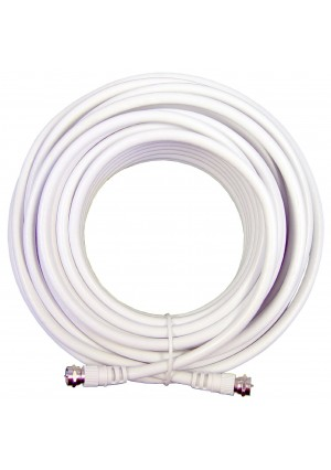 Wilson Electronics RG6 50 feet Low Loss Coax Extention Cable - White
