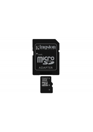 Kingston Digital 16 GB microSDHC Class 10 UHS-1 Memory Card 30MB/s with Adapter (SDC10/16GBET)
