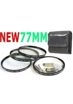 NEEWER 4pc 77mm Macro Close-Up Lens Set For Canon 24-105mm 70-200mm and All Other 77mm Lenses