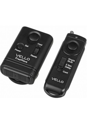 Vello FreeWave Wireless Remote Shutter Release for Canon w/3-Pin Connection with Canon EOS: 10D, 20D, 30D, 40D, 50D, 5D, 5D Mark II, 5D Mark III, 6D,