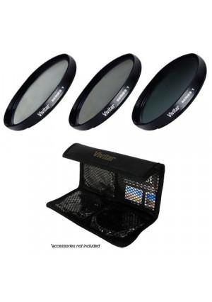 Vivitar 3-Piece Multi-Coated HD Filter Set (40.5mm UV/CPL/ND8)
