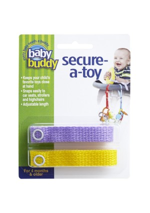 Baby Buddy Secure-A-Toy, Lilac/Yellow