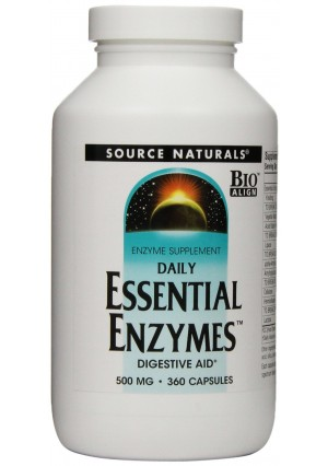 Source Naturals Daily Essential Enzymes, 500mg, 360 Capsules