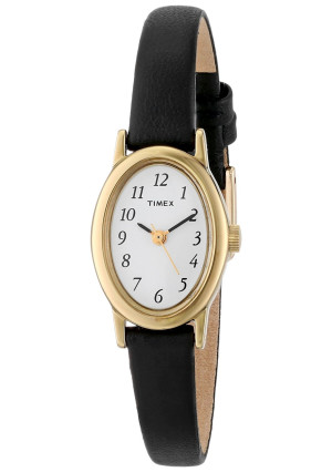 Timex Women's T21912 Cavatina Gold-Tone Watch with Leather Band