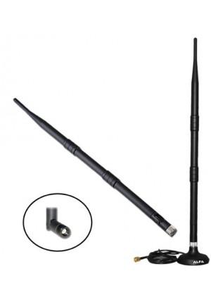 Alfa 9dBi WiFi Booster SMA OMNI-Directional High-Gain Screw-On Swivel Antenna With magnetic base for Alfa - WUS036H, WUS036H1W, APA05, WUS036NH, WUS0