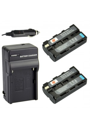 DSTE 2x NP-F550 Battery + DC01 Travel and Car Charger Adapter for Sony CCD-RV100 CCD-RV200 CCD-SC5 CCD-SC9 CCD-TR1 CCD-TR215 CCD-TR940 CCD-TR917 Came