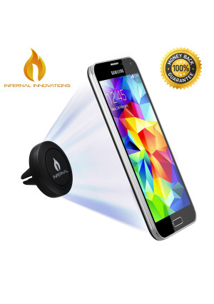 #1 Magnetic Car Air Vent Phone Mount Smartphone Stand | Universal Phone Holder | Magnetic Mount | FREE BONUS GIFT Extra Metal Plate Included | For Sa