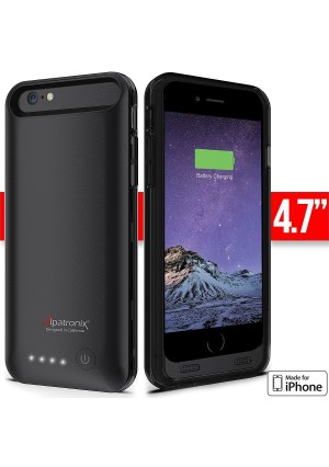 iPhone 6 Battery Case - Alpatronix BX140 iPhone 6 Battery Case [4.7 Inches] - MFi Apple Certified 3100mAh External iPhone 6 Battery Case Removable, R