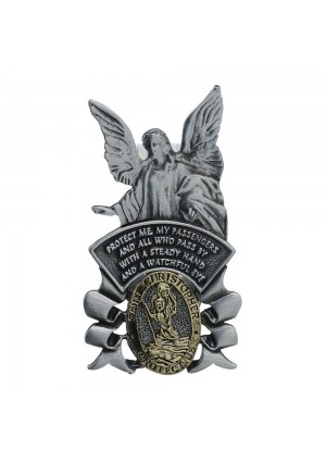 Guardian Angel and St. Christopher Visor Clip