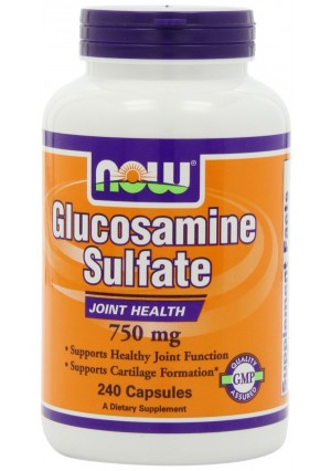 NOW Foods Glucosamine Sulfate 750mg, 240 Capsules