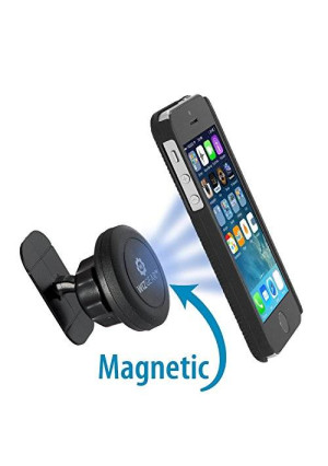 WizGear (TM) WizGear Universal Stick on Dashboard Magnetic Car Mount Holder for Cell Phones and Mini Tablets