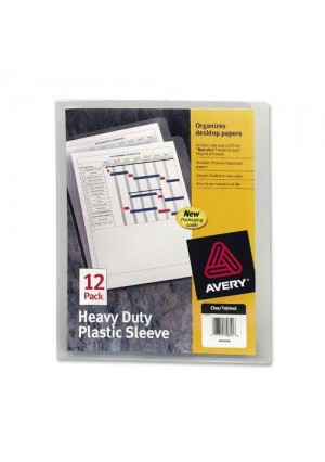 Avery Heavy-Duty Plastic Sleeves, Polypropylene, Letter Size, Clear, 12 per Pack (72611)
