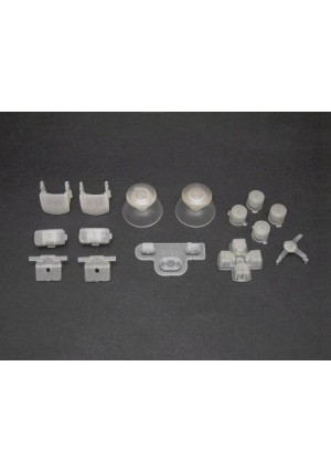 Console Customs PS3 Glow in the Dark Full Parts Set (Thumbsticks, Buttons, D-pad, Triggers, Start/Select) for Playstation 3 Controller