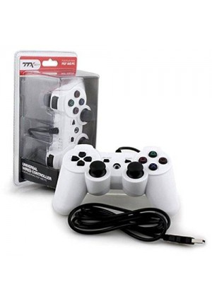 Ps3 - Controller - Wired - Usb Controller - Pc Compatible - White (ttx Tech)