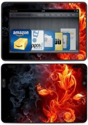 """DecalGirl Kindle Fire HDX 7"""" Decal/Skin Kit, Flower of Fire"""