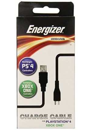 PDP Energizer 6-Feet Universal Power and Play Charge Cable - PlayStation 4
