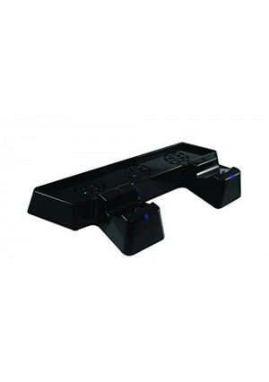 Collective Minds Cool N' Charge Dual Controller Charger with Triple Fan Console Cooler and Glossy Vertical Stand