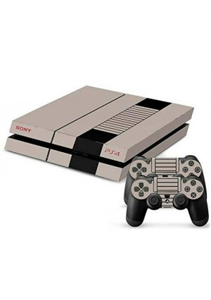 Mod Freakz PS4 Console and Controller Vinyl Skin Decal Retro Tan Nes Nitendo