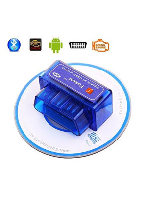 Foseal Car OBD2 OBD 2 OBDII Bluetooth Diagnostic Scan Tool Check Engine Light for Android and Windows System Torque Pro