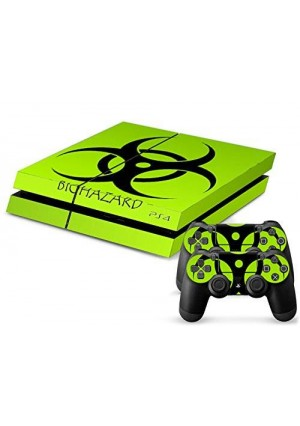 Arrela PS4 Console and Controller Decal Sticker Skin Fashionable Delicate Non-slip Surface for PlayStation 4 Biohazard