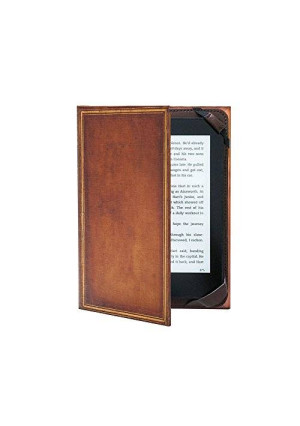 """KleverCase Book Cover Case for ALL 6"""" Amazon kindle ereader including 2015 Paperwhite, Voyage and Touch Screen - My Book Vintage Hardback"""