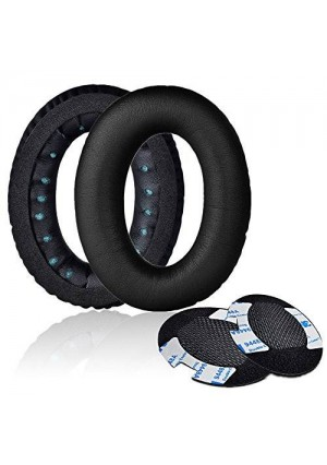 Replacement Earpads, Mudder Two Pieces Memory Foam Ear Pad - Cushion Repair for Bose Quietcomfort 2/ 15/ 25, Ae2, Ae2i - Black