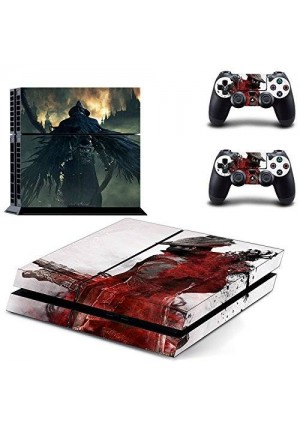 CloudSmart PS4 Designer Skin Decal for PlayStation 4 Console System and PS4 Wireless Dualshock Controller - Bloodborne