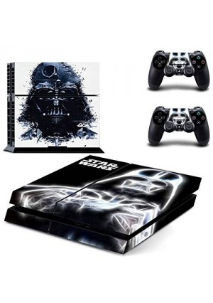 Beyone Vinyl Decal Protective Skin Cover Sticker for Sony PS4 Console And 2 Dualshock Controllers - Star War Black Knight