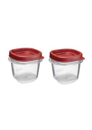 Rubbermaid Plastic Easy Find Lid Food Storage Set, 0.5 Cup (4-PC), 1776477