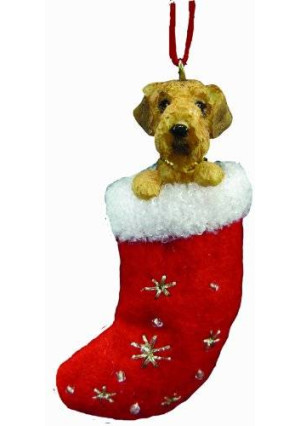 E&S Pets Airedale Terrier Stocking Ornament