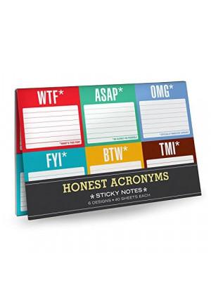 Knock Knock Sticky Notes Packet, Honest Acronyms