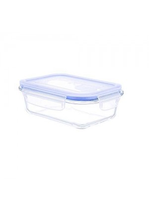 Kinetic Go Green Glasslock Elements Series 22-Ounce Rectangular Food Storage Container with Vented Lid 55082