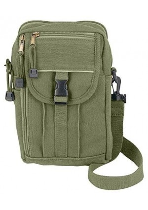 Rothco H/W Canvas Classic Passport Travel Pouch, Olive Drab