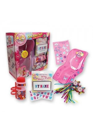 "Doll Bike Seat Gift Pack - ""Ride Along Dolly"" Decorate Yourself Bike Seat"