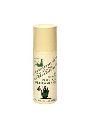 Alvera All Natural Roll-On Deodorant, Aloe Herbal, 3 Fluid Ounce