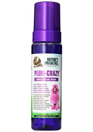Nature's Specialties Mfg Nature's Specialties Plum-Crazy Foaming Facial Wash for Pets, 7.5-Ounce