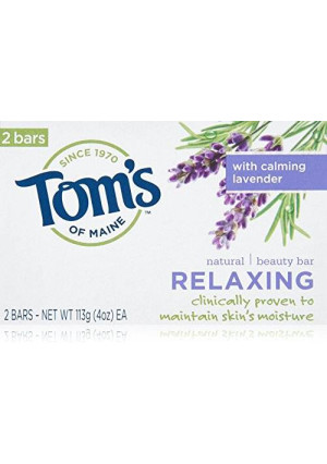 Tom's of Maine Relaxing Natural Beauty Bar Soaps, Calming Lavender, 2 Count