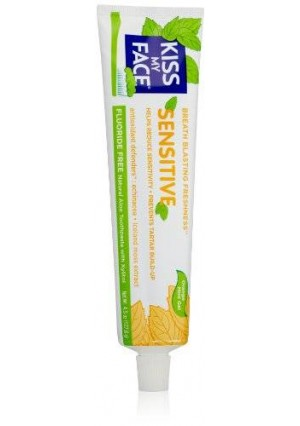 Kiss My Face Sensitive Toothpaste, Fluoride Free Toothpaste, 4.5 Ounce