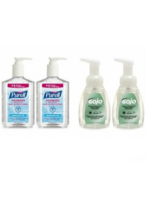 PURELL 9652-SS-EC Advanced Hand Sanitizer and GOJO Premium Soap Kit