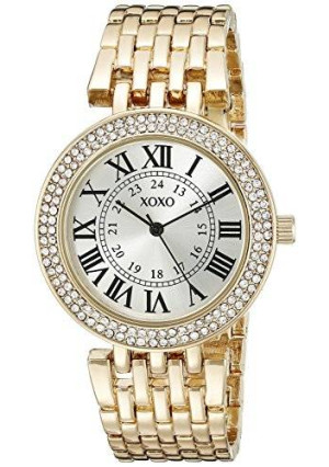 XOXO Women's XO265 Analog Display Analog Quartz Gold-Tone Watch