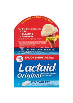 Lactaid Caplets, Lactase Enzyme Supplement, 120-Count Box