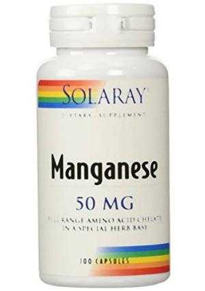 Solaray Manganese Supplement, 50 mg, 100 Count