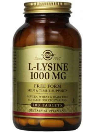 Solgar L-Lysine Tablets, 1000 mg, 100 Count